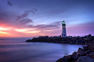 Photograph - Santa Cruz Harbor Mouth Sunrise by Morgan Wright