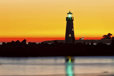 Photograph - Santa Cruz Lighthouses by Cheryl Strahl