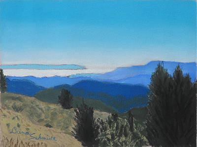 Painting - Santa Cruz Mountains Looking To Monterey Bay by Dana Schmidt