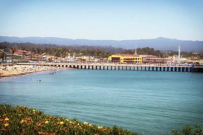 Photograph - Santa Cruz Pier Beach And Boardwalk by Marnie Patchett