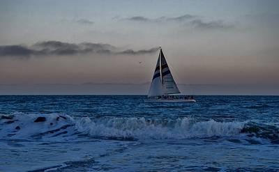 Santa Cruz Sail Art Print