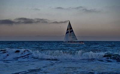 Photograph - Santa Cruz Sail by Marilyn MacCrakin