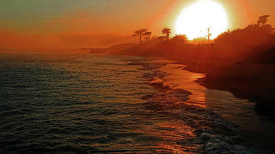 Photograph - Santa Cruz Sunset by Eric Wiles