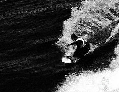Conversion Digital Art - Santa Cruz Surfer Dude by Norman  Andrus