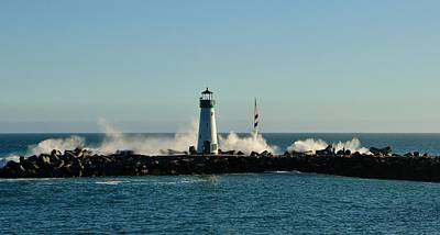 Photograph - Santa Cruz Walton Lighthouse by Marilyn MacCrakin