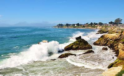 Photograph - Santa Cruz Wave Spray by Marilyn MacCrakin