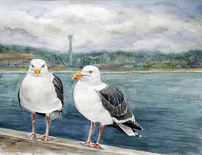 Santa Cruz Wharf Original by Susy Soulies