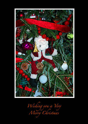 Photograph - Santa Doll Ornament Xmas Card by Ginger Wakem