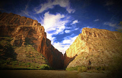 Photograph - Santa Elena Canyon 3 Painting by Judy Vincent