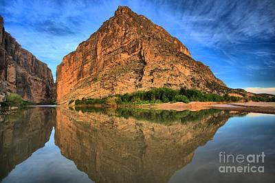 Photograph - Santa Elena Canyon Morning Reflections by Adam Jewell