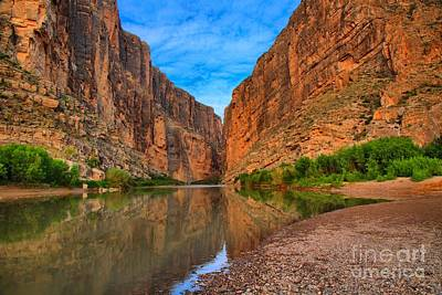 Photograph - Santa Elena Canyon Reflections by Adam Jewell