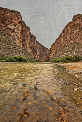 Photograph - Santa Elena Canyon With Texture by Judy Vincent