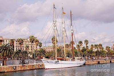 Photograph - Santa Eulalia Sailing Ship In Barcelona by David Fowler