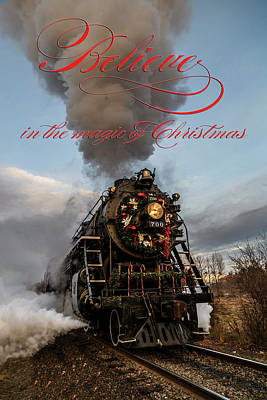 Photograph - Santa Express Believe In The Magic by Wes and Dotty Weber