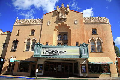 Photograph - Santa Fe - Adobe Theater by Frank Romeo