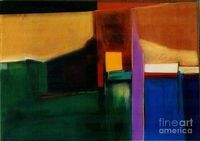 Marlene Burns Fine Art Painting - Santa Fe 1 Break Loose by Marlene Burns