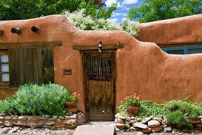 Photograph - Santa Fe Adobe  by Dee Dee Whittle