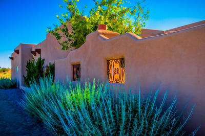 Art Print featuring the photograph Santa Fe Adobe by Ken Stanback