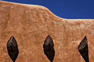 Photograph - Santa Fe Adobe Wall by Stuart Litoff