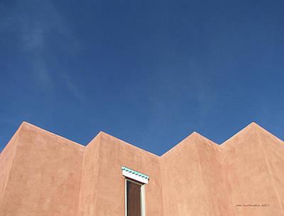 Santa Fe Angles, Blue Sky Art Print