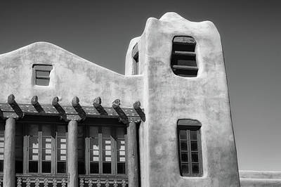 Photograph - Santa Fe Architecture In Bw by James Barber