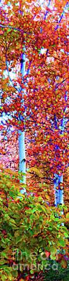 Santa Fe Aspen Forest Tryptic 2 Art Print