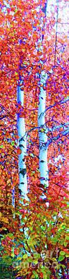 Santa Fe Aspen Forest Tryptic 3 Art Print