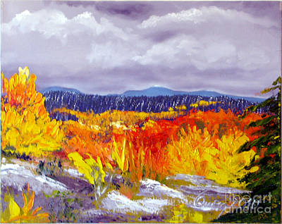 Santa Fe Aspens Series 1 Of 8 Art Print