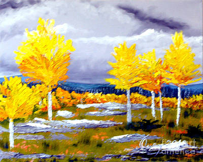 Santa Fe Aspens Series 2 Of 8 Art Print