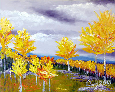 Santa Fe Aspens Series 3 Of 8 Art Print