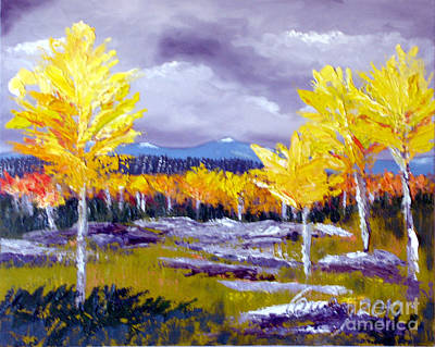 Santa Fe Aspens Series 4 Of 8 Art Print