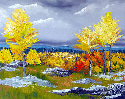 Santa Fe Aspens Series 5 Of 8 Art Print