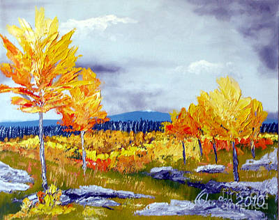 Santa Fe Aspens Series 6 Of 8 Art Print