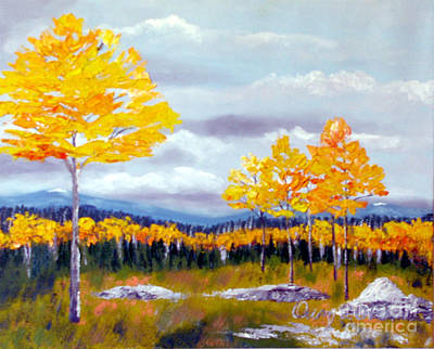 Santa Fe Aspens Series 8 Of 8 Art Print