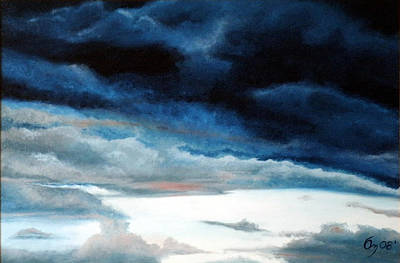Painting - Santa Fe August Morning Monsoon by Carl Owen