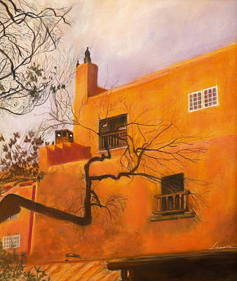 Santa Fe Building Print by Leonor Thornton