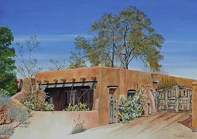 Painting - Santa Fe Casa by Mary Dove