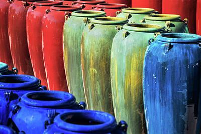 Photograph - Santa Fe Clay Pots by Steven Bateson