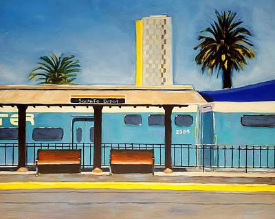 High Rise Painting - Santa Fe Depot by Karyn Robinson