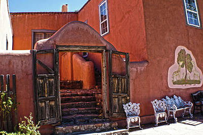 Photograph - Santa Fe Door 1 by DiDi Higginbotham