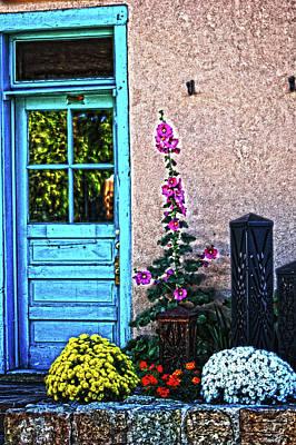 Photograph - Santa Fe Door 4 by DiDi Higginbotham