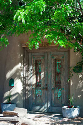 Santa Fe Door Art Print by David Patterson