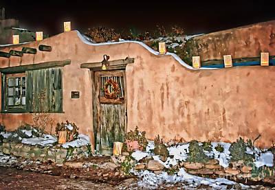 Luminaria Photograph - Santa Fe Farolitos by Gabriele Pomykaj