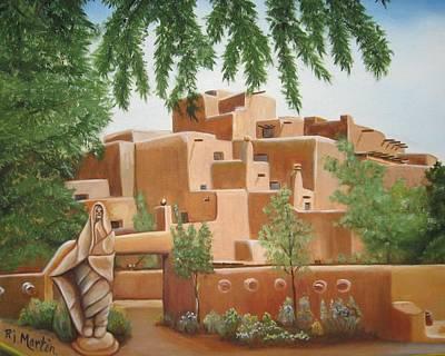 Painting - Santa Fe Garden by Roberta Martin