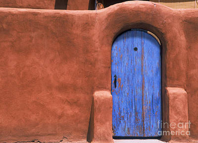 Photograph - Santa Fe Gate No. 3 - Rustic Adobe Antique Door Home Country Southwest by Jon Holiday