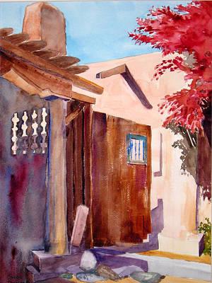 Ressler Painting - Santa Fe Gateway by John Ressler