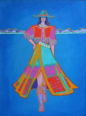 Painting - Santa Fe Girl  by Adele Bower