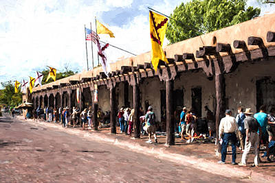 Handcrafted Jewelry Photograph - Santa Fe Indian Market by JG Thompson