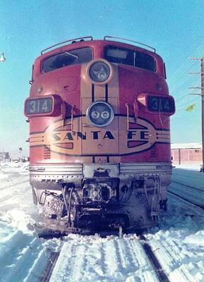 Santa Fe Locomotive At Gallup New Mexico Art Print