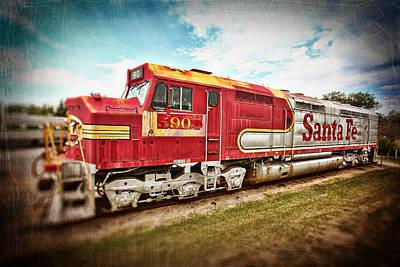 Santa Fe Locomotive Art Print by Charrie Shockey